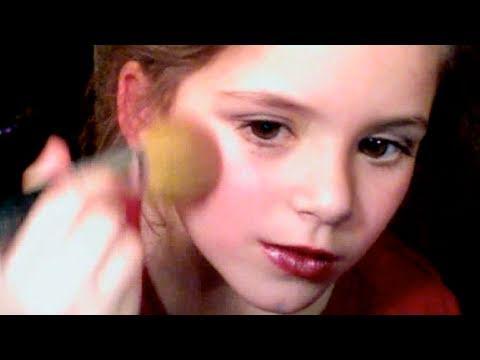 Smoky Purple Eye MakeUp tutorial for kids