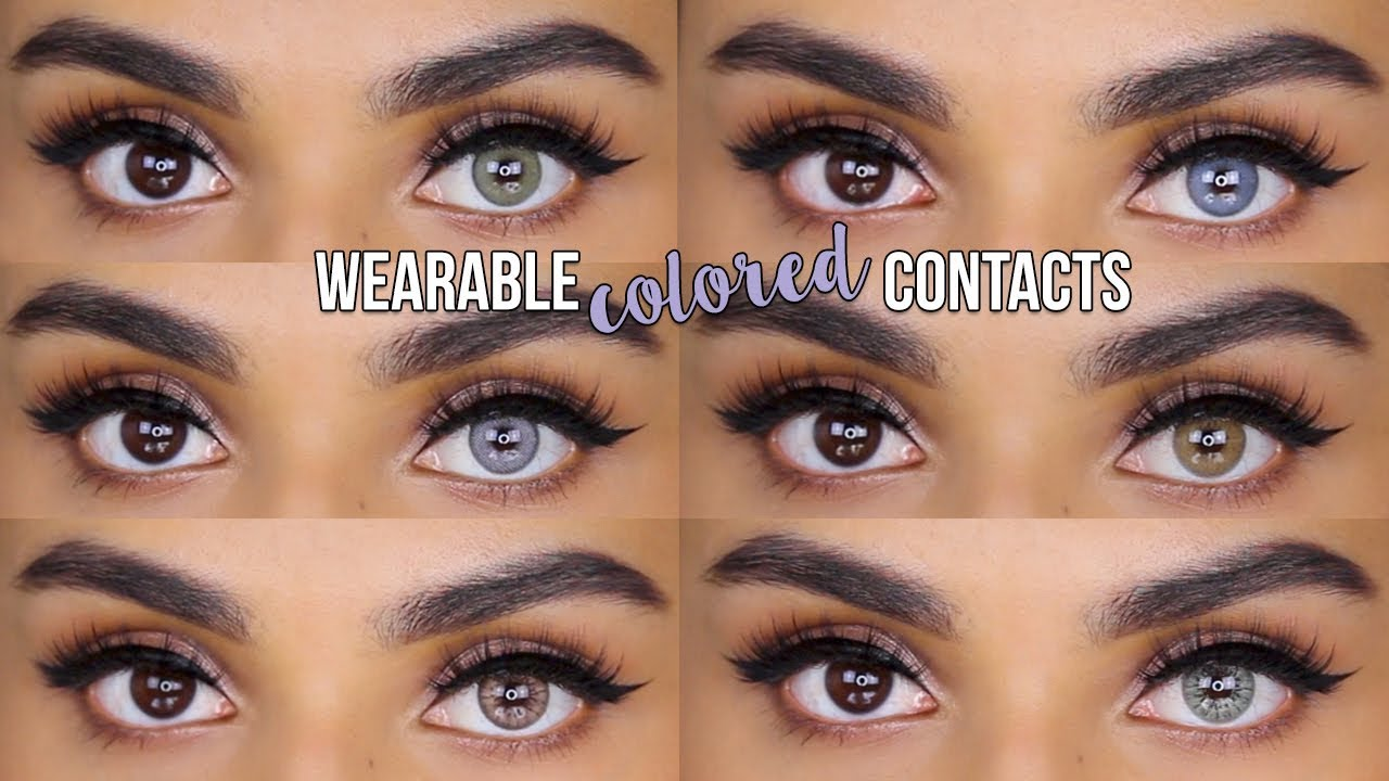 Realistic Colored Contact Lenses For Dark Eyes Desio