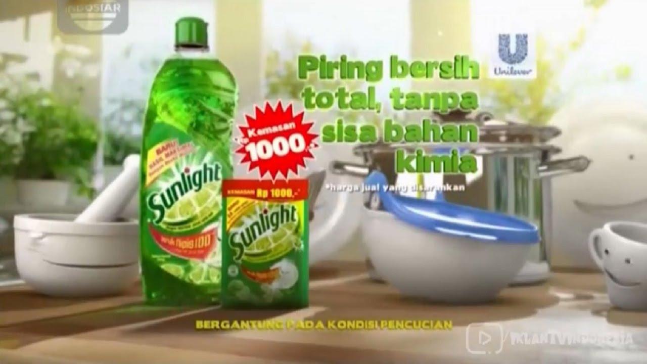 Iklan Sunlight Tak Ada Sisa Bahan Kimia Youtube