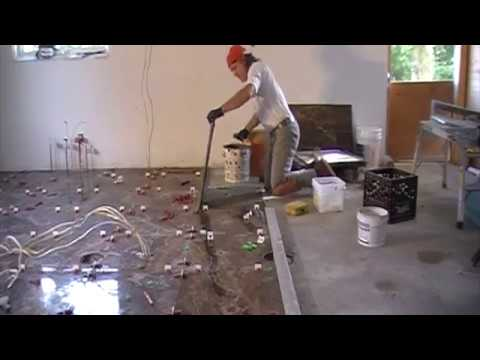 How to install 24x24 porcelain tile on a kitchen floor