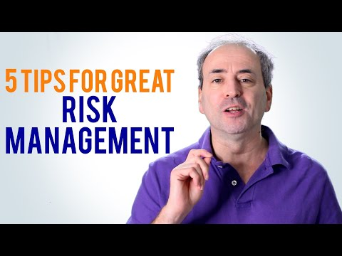 Risk Management - 5 Tips to do it right