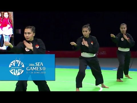Pencak Silat Artistic Female Team - Regu Finals 1st Placing  (Day 5)   28th SEA Games Singapore 2015