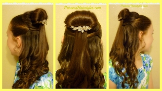 Belle Hairstyle Tutorial, Beauty and The Beast Inspired