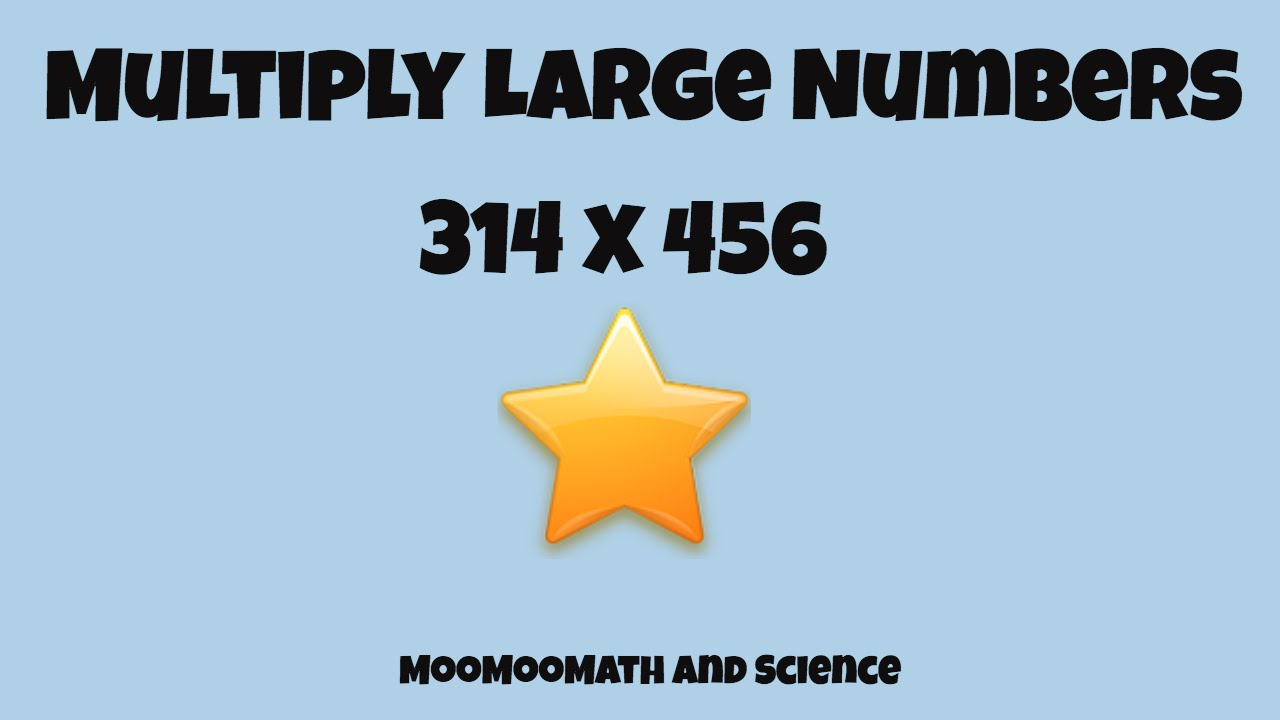 Math Trick Multiply Large Numbers Easily Youtube