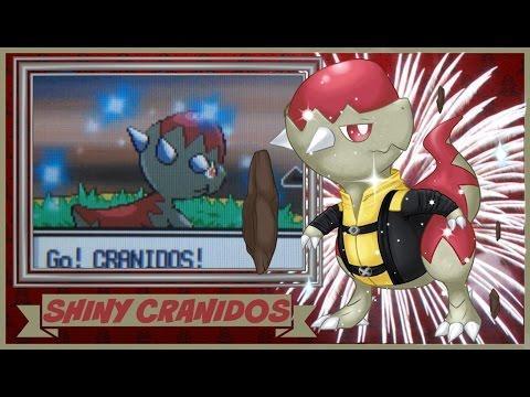Live Shiny Cranidos, Platinum BQ#3, 3524 SRs [ISHC/SSC]