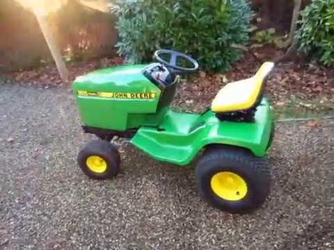 Fully Red 1987 John Deere 185 Hydro Lawn Tractor