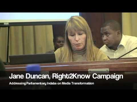 Right2Know's Jane Duncan on Media Transformation