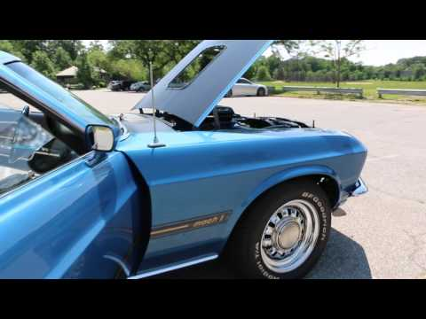 "1969 Mustang Mach 1 ""R Code"" 428 CJ Ram Air For Sale~Acapulco Blue~A/C~Amazing Restoration!"
