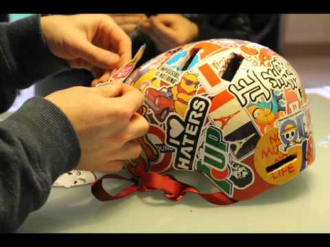 Do it yourself d co casque roller 100 stickers youtube for Deco 6 hoerdt