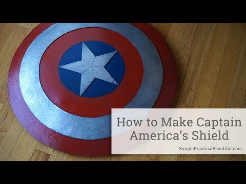 How to Make a Captain America Shield with Foam