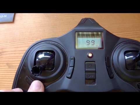 Hubsan X4 H107C Quadrocopter Erklärung Anleitung der Funktionen Fernsteuerung Anlage Deutsch
