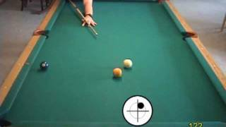 Pool and billiards drill for learning to play safeties, from VEPP III (NV C.11)