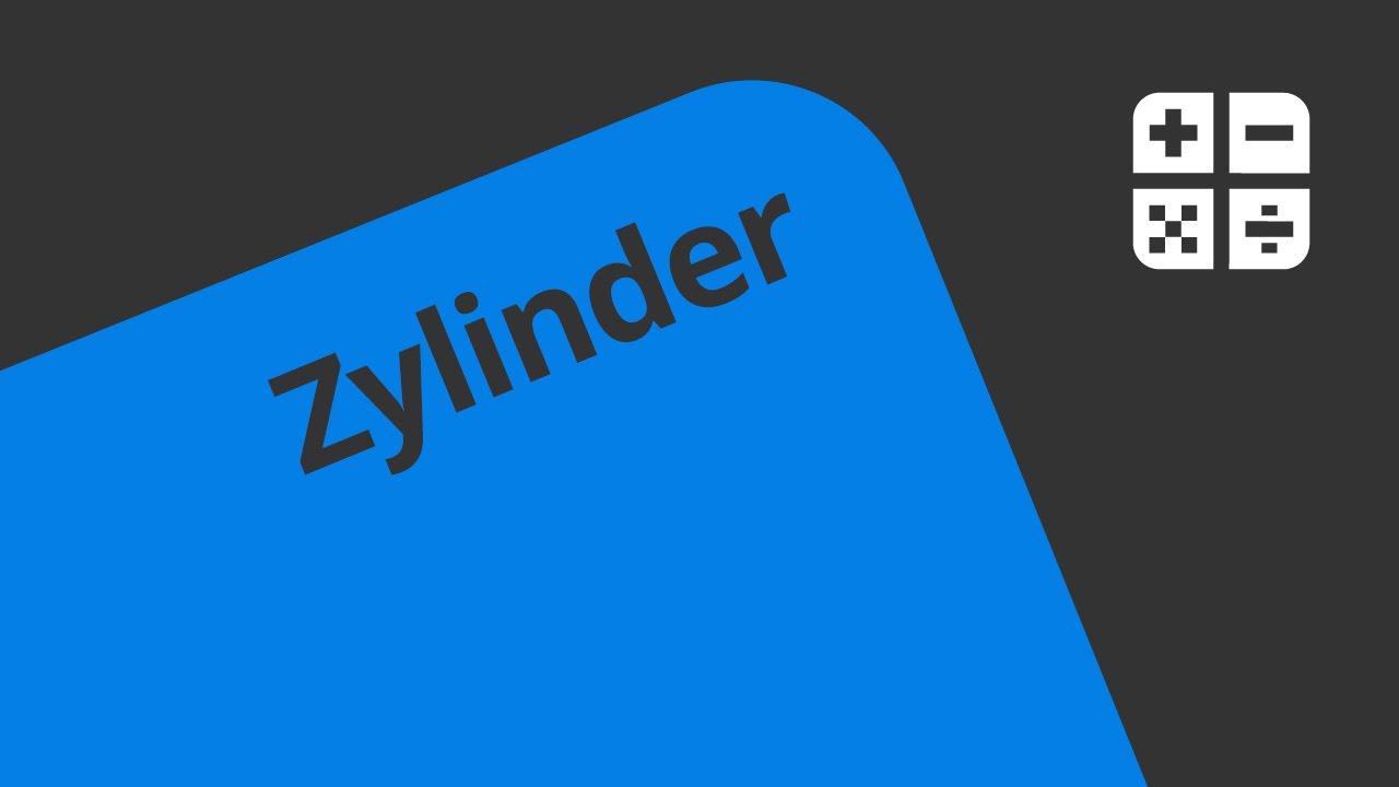 Zylinder : Grundfläche, Mantel Und Deckfläche | Mathematik | Geometrie