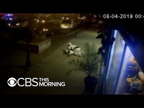 Dramatic video shows man shielding girlfriend during Dayton shooting