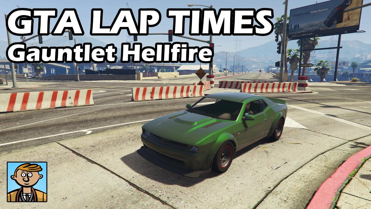 Fastest Muscle Cars (Gauntlet Hellfire) - GTA 5 Best Fully Upgraded Cars  Lap Time Countdown