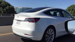 White Tesla Model 3 sighting - July 18, 2017