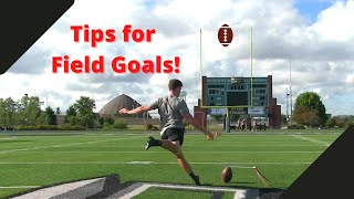 Top tips for kicking field goals! (Kick higher and farther!)
