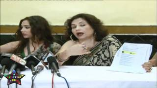 Press Cnfrence Salma Aaga Daughter Zarah Khan MMS   08