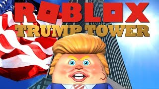 TRUMP TOWER MAKEN IN ROBLOX !! | Roblox Skyscraper Simulator