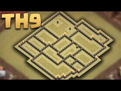 Clash of clans - Town Hall 9 (TH9) War Base Anti 3 star 2016 + Replays