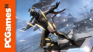 Warframe Fortuna Gameplay - 8 Minutes of Hoverboards, Fishing, and the New Garuda Frame