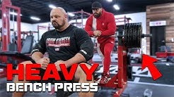 500LB BENCH PRESS SESSION WITH BRADLEY MARTYN