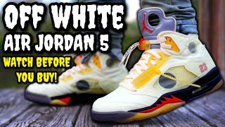 WORTH THE HYPE? Off-White Air Jordan 5 SAIL ON FEET REVIEW! Watch BEFORE You BUY! Worth Resell?