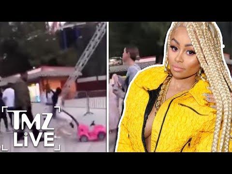 Blac Chyna Crazy Brawl At Six Flags!  TMZ Live