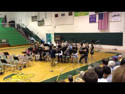 Northside Middle School Band Roanoke, Virginia Plays 'In the Midnight Hour'