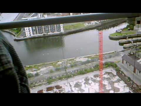 On Dublin's docks driving a towercrane in 08