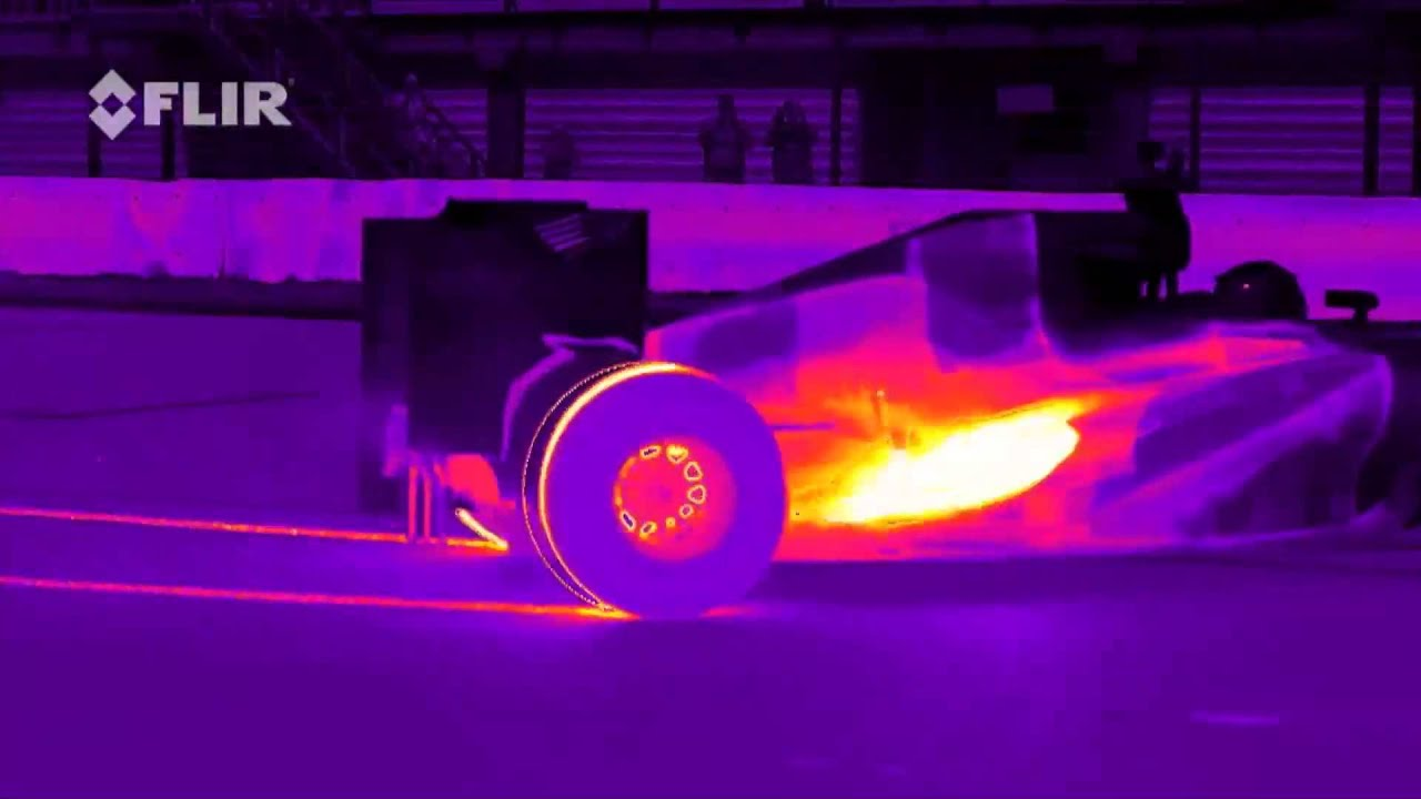 Formula 1 Car Looks Unbelievable Under Thermal Imaging