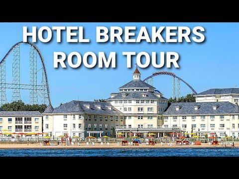 Cedar Point Hotel Breakers Renovated King Room Tour Sandusky, Ohio