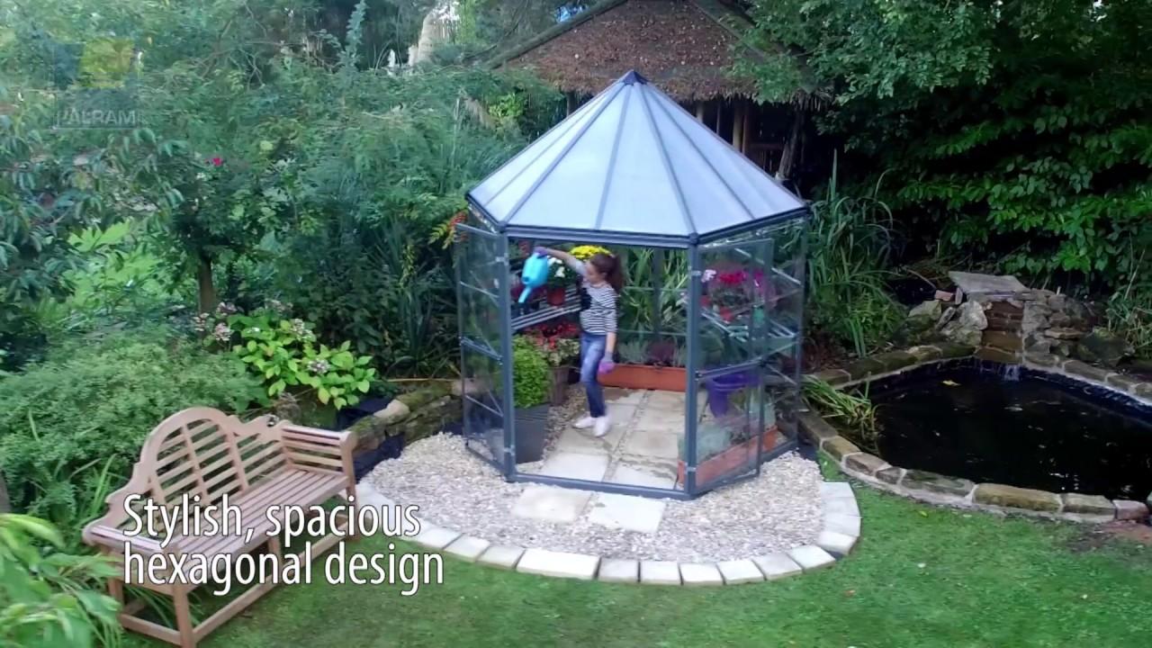 Aluminium Gewachshaus Pavillon Oasis By Mygardenhome De Youtube