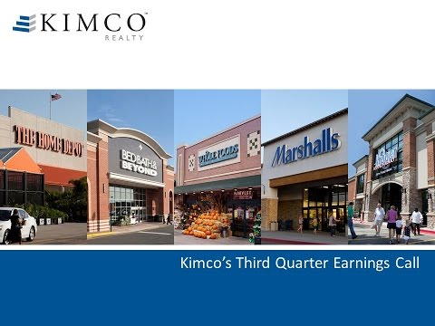 Kimco's Third Quarter Earning Call