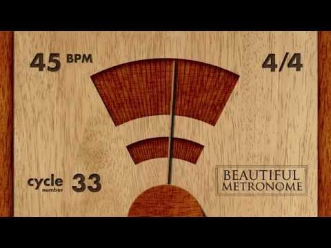 45 BPM 4/4 Wood Metronome HD