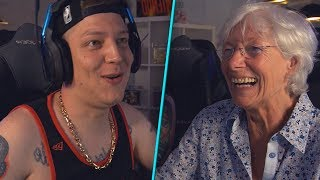 Grandma for the first time LIVE in Stream! 😂 | MontanaBlack Highlights