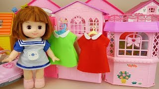 Baby Doll dress surprise house and kitchen house play