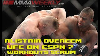 Alistair Overeem on tragic events surrounding Walt Harris being replaced (UFC on ESPN 7)