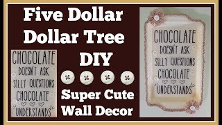 Dollar Tree Diy 🤑 $5 Wall Decor Super Cute and easy