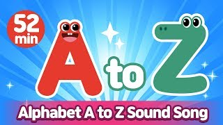 Alphabet A to Z Sound Song Compilation l Phonics for English Education