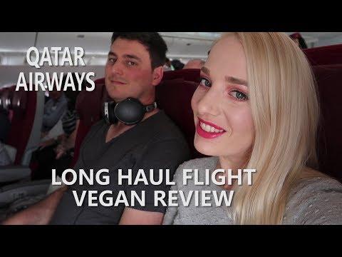 Qatar Airways long haul flight // Vegan review