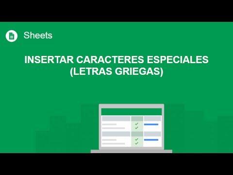 [Google Sheets] Insertar caracteres especiales (letras griegas)