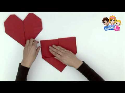 Pliage De Serviette En Papier En Forme De Coeur Hellokids Youtube