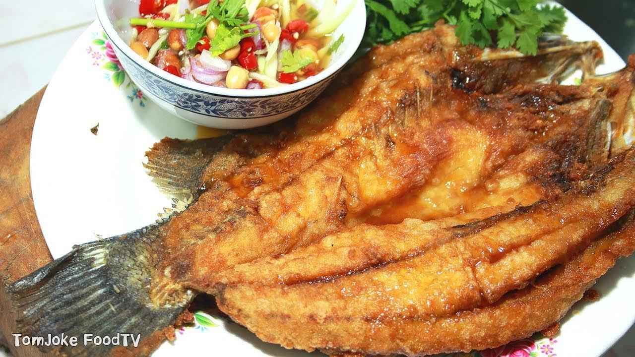 สูตรปลากระพงทอดน้ำปลา พร้อมวิธีแล่ปลาให้สวยเหมือนร้านอาหาร Barramundi Recipes