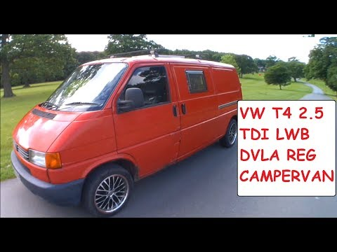 VW T4 Transporter DVLA Registered Campervan 2.5TDI LWB Camper Conversion
