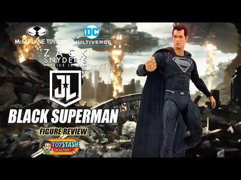 DC Multiverse Zack Snyder's Justice League Black Superman Figure Review!