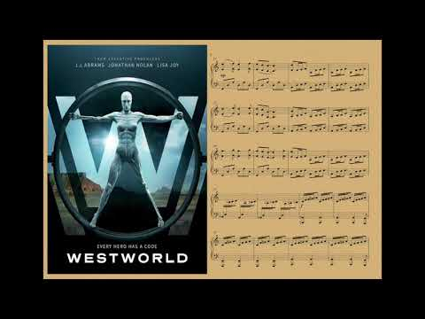 WestWorld - main theme, piano (piano sheet)