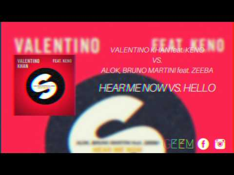 Baixar Alok, Bruno Martini feat. Zeeba vs. Valentino Khan feat. Keno - Hear Me Now vs. Hello (GeeM Mashup)