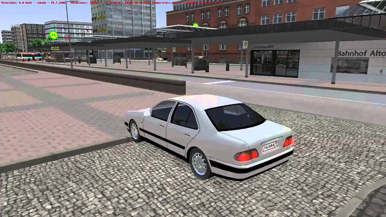 Omsi hamburg gameplay driving mercedes benz car for for Mercedes benz car racing games