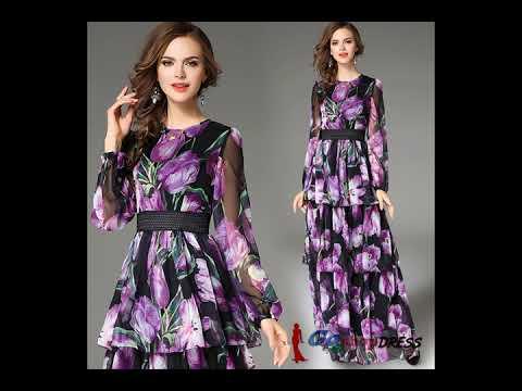 Women's Print Dresses - Floral Dresses-http://www.goshopdress.com/